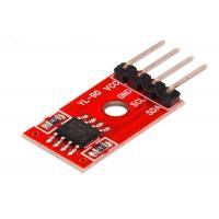Buy cheap AT24C08 IIC/I2C Serial Interface Port EEPROM Memory Module For DIY Electronic Car 3.3-5V with Dupont Cable from wholesalers
