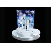 Buy cheap Advertising Sticker Printing White Acrylic Makeup Display Stand 4mm 5mm Thickness from Wholesalers