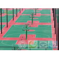 Buy cheap Dark Red Color SPU Sport Court Surface For Tennis Field With 670 Square Meters from wholesalers