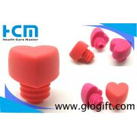 Quality Promotional gifts Heart shape Wine accessories silicone rubber bottle stopper  wholesale
