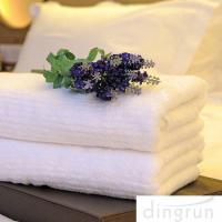 Buy cheap White Color Luxury Pure Cotton Bath Towels Home / Hotel Use Soft Touch Azo Free from Wholesalers