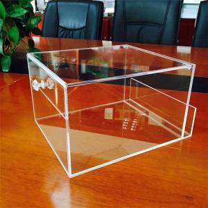 Buy cheap custom handmade clear small acrylic box from wholesalers
