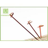 Buy cheap Red Bamboo BBQ Sticks Knotted Bamboo Skewers For Fruit 70 / 80 / 105 / 120mm from Wholesalers