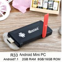 Buy cheap RK3328 Quad Core Android Stick R33 MINI TV Android 7.1 Dual band wifi H.265 decoding R33 Quad core Android stick from wholesalers