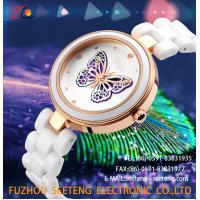 Buy cheap WHOLESALE CERAMIC STRAP ALLOY CASE QUARTZ WATCHES LADIES WATCH from wholesalers