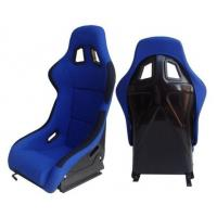 China Fabric + Blk Fiber Glass Bucket Racing Seats With Belt Harness Holes on sale