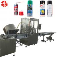 Quality Anti Rust Spray / Mould Release Automatic Aerosol Filling Machine 316 Stainless Steel wholesale