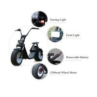 Quality 1200 W Two Wheels Electric Scooter , 2 Wheel Motor Scooter With Removable Battery wholesale