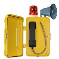 Auto Dial Industrial Weatherproof Telephone Vandal Proof With Broadcast