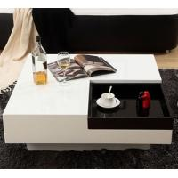Buy cheap white square high gloss MDF modern coffee table from wholesalers