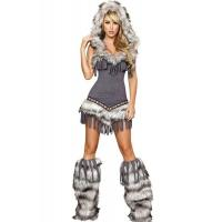 Quality Womens Captain California adult halloween costumes , Indian fancy dress costumes wholesale
