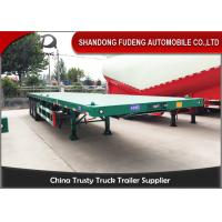 Buy cheap BPW Axle 40ft Heavy Duty Flatbed Trailer With Super Single Tire Air Suspension from Wholesalers