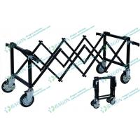 Buy cheap Iron Power Coated Funeral Equipment Foldable Church mortuary rolley with Wheels from wholesalers