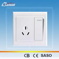 Quality LK4011 1gang 3pin PC flush type wall socket wholesale