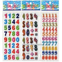 China Preschool Education Puffy Letter Stickers , Arabic Numerals DIY Puffy Stickers For Kids on sale