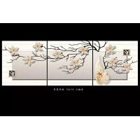 Buy cheap Mold Resistant Tile Effect Wall Boards Bamboo Fiber Lily Blossom 70cm X 70cm from Wholesalers