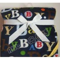 letter printed short plush blanket