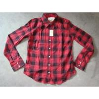 20K pcs Abercrombie & Fitch plaid pattern girl's shirt inventory ,women's Fall's slim-fit casual Tops