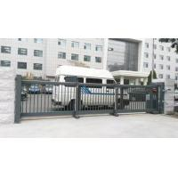 Buy cheap Trackless Motorised Steel Iron Telescopic Sliding Gate For Stadium With Powder Coating Protection from wholesalers