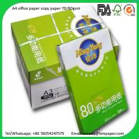 Buy cheap Good Quality A4 Size letter size paper 70g/80g Copier Paper with Cheap Price from Wholesalers