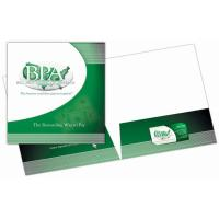 Buy cheap 250G Presentation File Folder Paper 2 Pockets Full Color Printing from Wholesalers