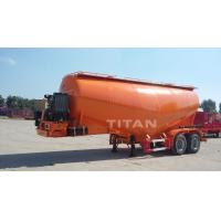 China TITAN VEHICLE 2 axles bulk cement tank semi trailer with 30 ton tank Cement on sale