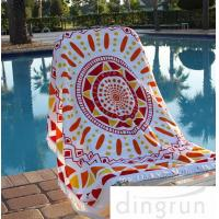 Quality Cotton Custom Printed Beach Towels , Large Size Family Beach Towel 60 Inch wholesale