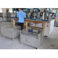 Buy cheap Collapsible Stacking And Folding Mesh Security Cages Heavy Duty Cargo Storage from wholesalers