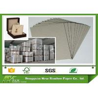 Quality Pressed Cardboard Paper Sheets Laminated Gray Board For Wine Box / Jewel Box for sale