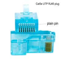Quality Networking Cable OEM 8P8C CAT5E Ethernet Cable Plugs with transparent wholesale