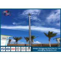 Quality Signal Transmission Telecomminication Polygonal Towers with Antenna Q345 wholesale