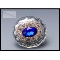 Buy cheap Chrome Crystal Drawer Handles And Knobs Swden Stylish Blue Arcylic Stones For Kitchen Cabinet from Wholesalers