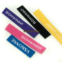 Colored Damask Apparel Brand Woven Labels , Woven Name Labels For Clothing