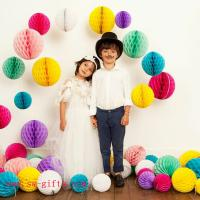 Buy cheap Party Wedding Decoration Paper Craft Tissue Paper Honeycomb Balls Pom Pom Flower Ball from wholesalers