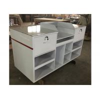 Buy cheap 1.5M Length Lightweight Retail Checkout Counter With Artificial Stone Simple Style from Wholesalers