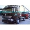 Buy cheap Black 420HP Unloading Heavy Duty Trucking HOWO A7 , 4X2 Truck , Wild Black from Wholesalers