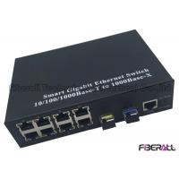 Buy cheap Ring Type Gigabit Multiport Fiber Media Converter With 8 RJ45 Ports And 2 SFP from wholesalers