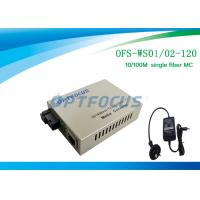 Buy cheap Optical Media Converter 1310 / 1550 Nm Single Fiber SM SC 120KM from Wholesalers