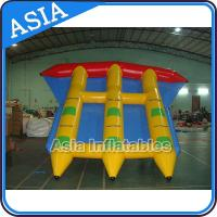 Quality Water Sports Inflatable Flying Fish Boat Towable 0.9mm PVC Tarpaulin Waterproof wholesale