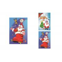 Buy cheap 2 Pictures Changed Lenticular Flip 3d Merry Christmas Greeting Card 12 x 17cm from wholesalers