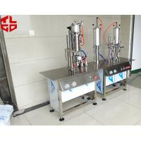 Buy cheap Semi Automatic Aerosol Can Filling Machine For Anti Rust Spray / Mould Release Spray from Wholesalers