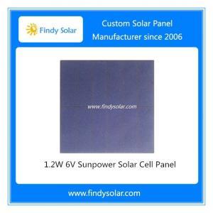1.2W 6V Sunpower Solar Cell Panel, PET Laminated Solar Panel, 85x85x1.8mm