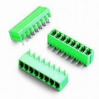 Buy cheap 3.81mm Pitch PCB Terminal Blocks with 300V 8A Rating, RoHS Compliant from Wholesalers
