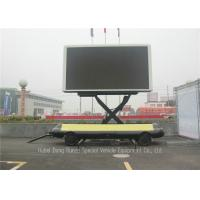 China Mobile Led Display Trailer With Lifting System , High Defination LED Advertising Trailer on sale