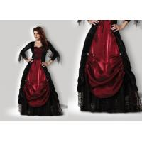 Buy cheap Gothic Vampiress 1002 Halloween Adult Costumes Red Black Color With Petticoat from Wholesalers