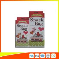 Custom Colored Printed LDPE Reusable Ziplock Snack Bag / Sandwich Bags