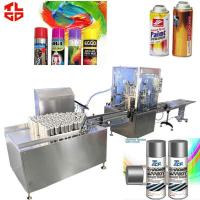 Quality Automatic Aerosol Filling MachineProduction Line for Spray Paint 2000-3200cans/hr wholesale