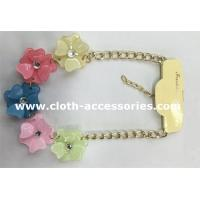 Quality Resin Crystal Handmade Beaded Necklaces 10 Inch With Five Flowers wholesale