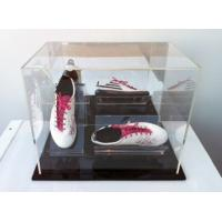 Buy cheap clear acrylic shoe boxes plexiglass acrylic shoe display case with lid from Wholesalers