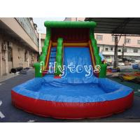 China 0.6mm PVC Outdoor Inflatable Water Slide For Inflatable Sport Game , Lead Free on sale